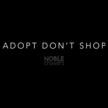 ADOPT DON'T SHOP - PREMIUM WOMEN'S FITTED S/S TEE - BLACK Design