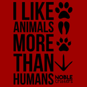 I LIKE ANIMALS MORE THAN HUMANS - PREMIUM UNISEX S/S TEE - CARDINAL Design