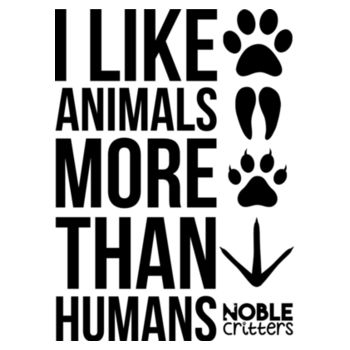 I LIKE ANIMALS MORE THAN HUMANS - PREMIUM UNISEX S/S TEE - WHITE Design