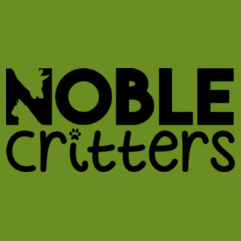 NOBLE CRITTERS LOGO - PREMIUM WOMEN'S FITTED RACERBACK TANK TOP - MILITARY GREEN Design