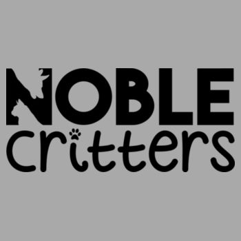 NOBLE CRITTERS LOGO - PREMIUM WOMEN'S FITTED RACERBACK TANK TOP - LIGHT GRAY HEATHER Design