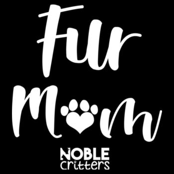 FUR MOM - PREMIUM WOMEN'S FITTED RACERBACK TANK TOP - BLACK Design