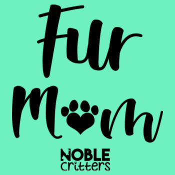 FUR MOM - PREMIUM WOMEN'S FITTED S/S V-NECK TEE - MINT Design