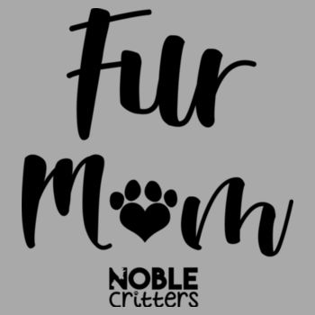 FUR MOM - PREMIUM WOMEN'S FITTED S/S V-NECK TEE - LIGHT GRAY HEATHER Design