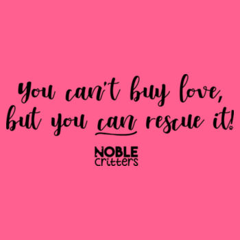 RESCUE LOVE - PREMIUM WOMEN'S FITTED RACERBACK TANK TOP - HOT PINK Design
