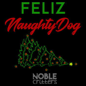 FELIZ NAUGHTY DOG - PREMIUM UNISEX S/S TEE - BLACK Design