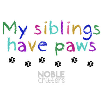 MY SIBLINGS HAVE PETS - TODDLER PREMIUM T-SHIRT - WHITE Design