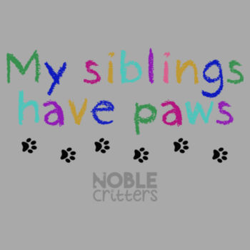 MY SIBLINGS HAVE PETS - TODDLER PREMIUM T-SHIRT - LIGHT GRAY HEATHER Design