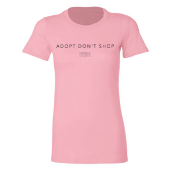 ADOPT DON'T SHOP - PREMIUM WOMEN'S FITTED S/S TEE -  Thumbnail