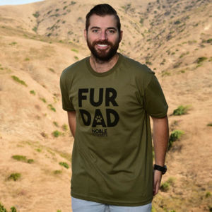 FUR DAD - PREMIUM UNISEX S/S TEE - MILITARY GREEN Thumbnail