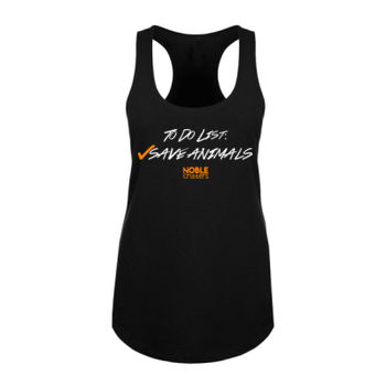 TO DO - PREMIUM WOMEN'S FITTED RACERBACK TANK TOP - BLACK Thumbnail