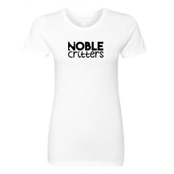 NOBLE CRITTERS LOGO - PREMIUM WOMEN'S FITTED S/S TEE - WHITE Thumbnail