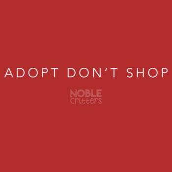 ADOPT DON'T SHOP - PREMIUM UNISEX S/S TEE - RED Design