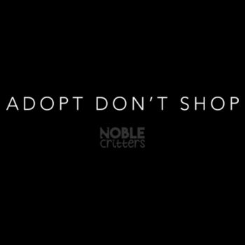 ADOPT DON'T SHOP - PREMIUM UNISEX S/S TEE - BLACK Design