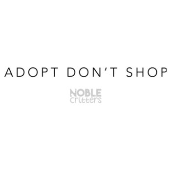 ADOPT DON'T SHOP - PREMIUM UNISEX S/S TEE - WHITE Design