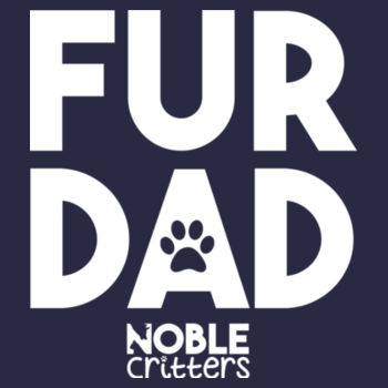 FUR DAD - PREMIUM UNISEX S/S TEE - MIDNIGHT NAVY Design