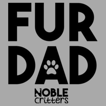 FUR DAD - PREMIUM UNISEX S/S TEE - LIGHT GRAY HEATHER Design
