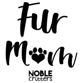 FUR MOM - PREMIUM WOMEN'S FITTED RACERBACK TANK TOP - WHITE Design
