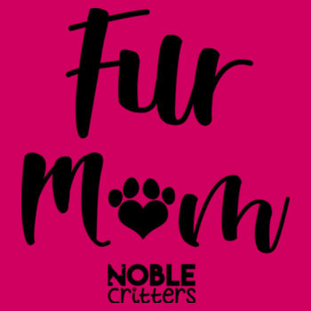 FUR MOM - PREMIUM WOMEN'S FITTED S/S V-NECK TEE - RASPBERRY Design