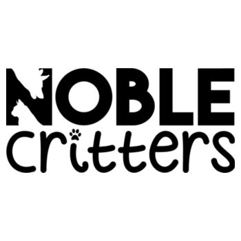 NOBLE CRITTERS LOGO - PREMIUM WOMEN'S FITTED S/S TEE - WHITE Design
