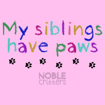 MY SIBLINGS HAVE PAWS - BABY PREMIUM ONESIE - WHITE Design